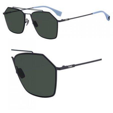 Sunglasses Fendi Men Ff M 22 /S 0KB7 Gray / UC green polarized lens