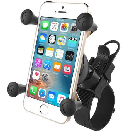 RAM RAP-SB-187-UN7U Universal bike Mount for iPhone 3/4, Samsung Galaxy, HTC Thunderbolt, Incredible, HD7, Motorola Droid, Atrix and other Android Smartphones with bumper or case