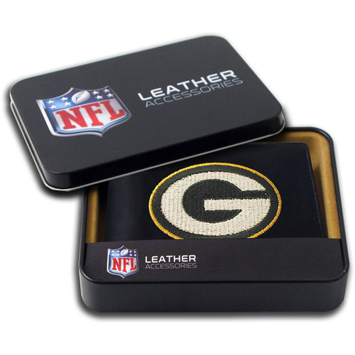 NFL - Men's Green Bay Packers Embroidered Billfold Wallet