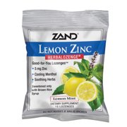 Zand HerbaLozenge Lemon Zinc | Throat Lozenges | No Corn Syrup, No Cane Sugar, No Colors