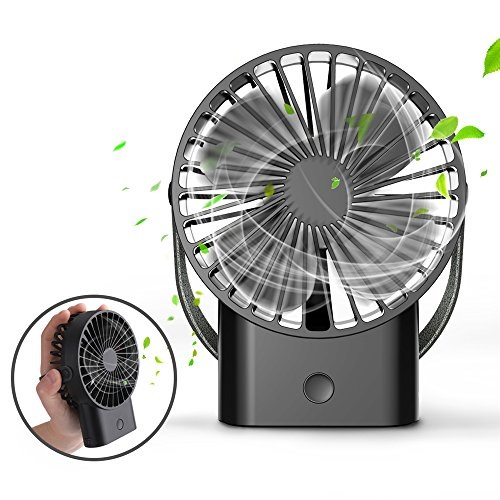 Portable Air Cooler Hand Carry Fan USB Rechargeable Travel Desk Indoor Outdoor