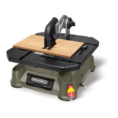 Rockwell RK7323 Bladerunner X2 Portable Tabletop Saw With Steel Rip Fence, Miter Gauge And 5 Pc Star