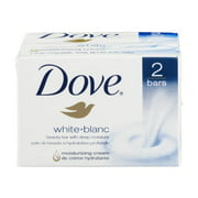 DOVE Beauty Bar White 4 oz, 2 Bar (Pack of 24)