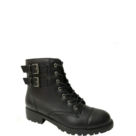 Wonder Nation Moto Combat Boot (Toddler Girls)