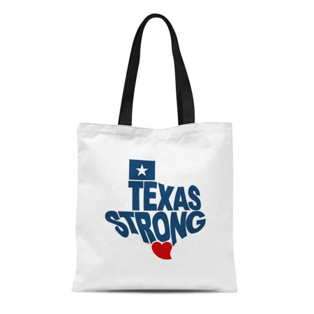 LADDKE Canvas Tote Bag Houston Texas Strong Map Flat Flood Hurricane City Graphic Durable Reusable Shopping Shoulder Grocery