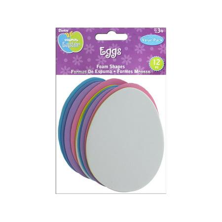 DAR1050 97 DARICE FOAMIES BASE EASTER EGG VP 12PC - Easter Goods
