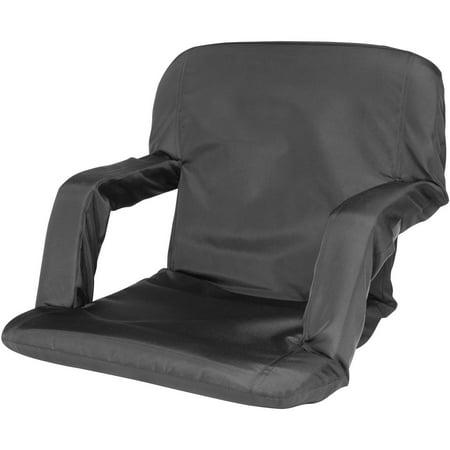 Lafayette Stadium Seat - Cascade Mountain Tech Portable Reclining Stadium Seat, Black