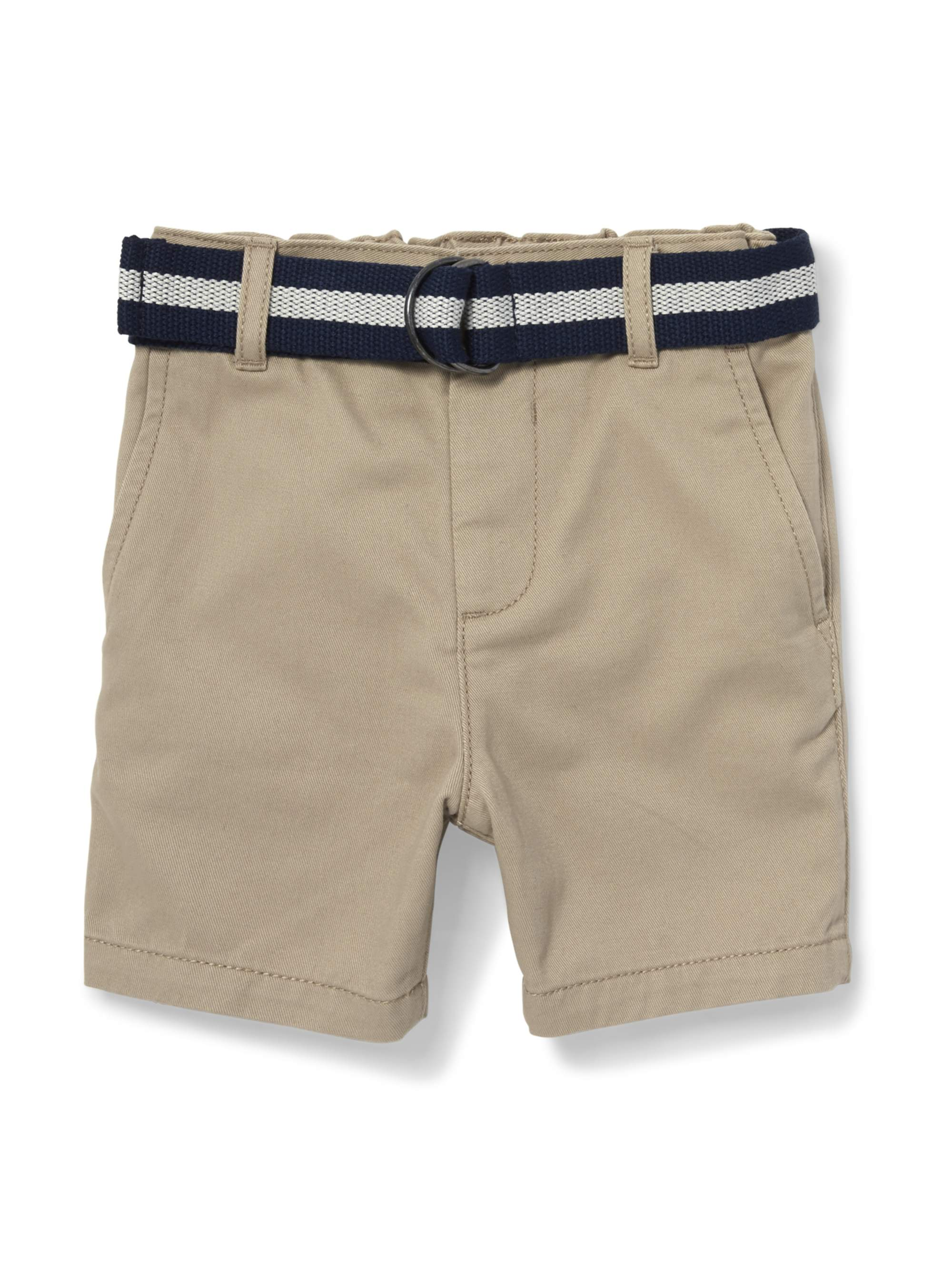 Belted Flat Front Chino Short (Baby Boys & Toddler Boys)