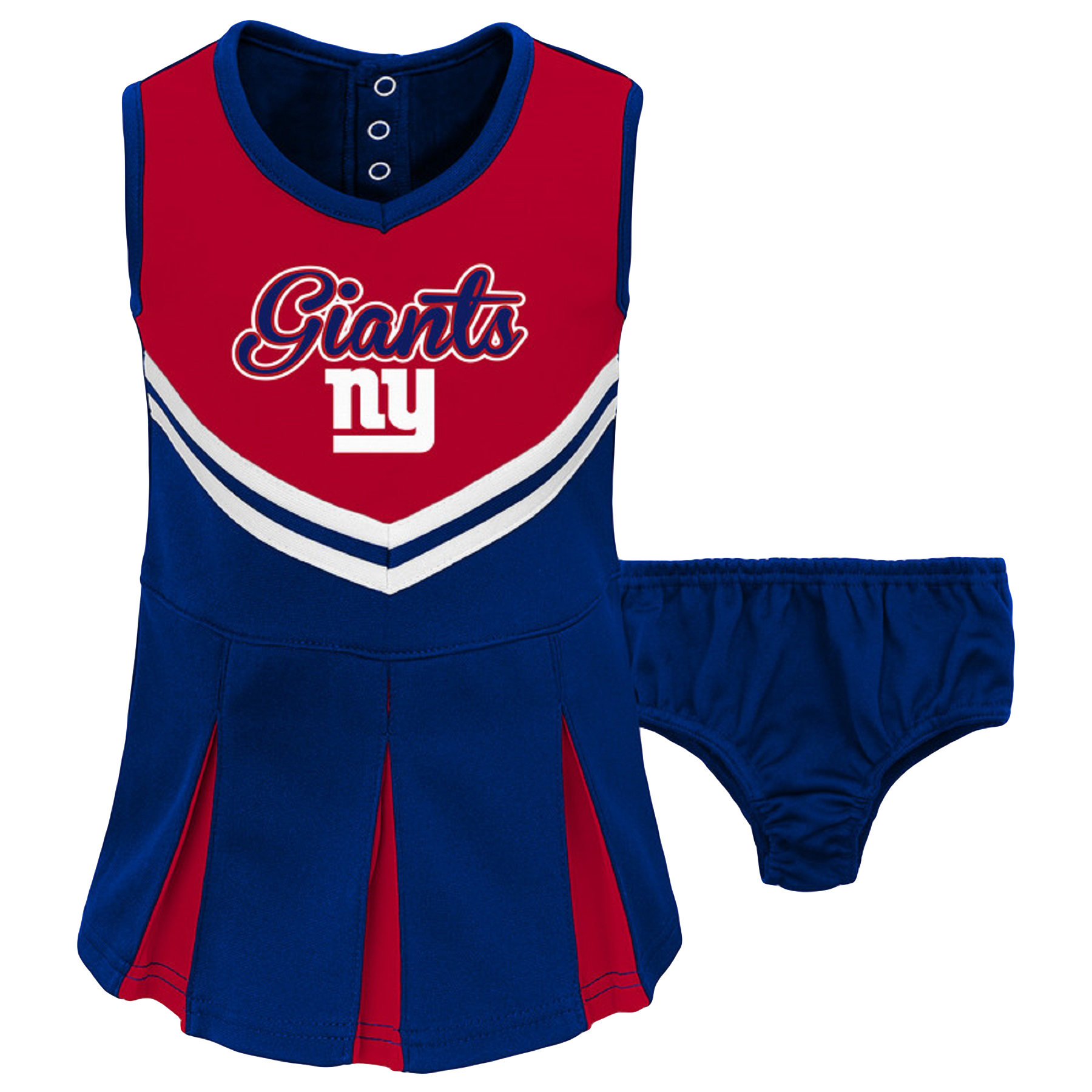 Toddler Red/Royal New York Giants Cheerleader Dress & Bloomers Set