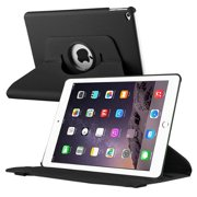 iPad Air 2 Case, by Insten Black 360 Degree Rotating Multi View Stand Leather Case Cover For Apple iPad Air 2 (iPad 6)