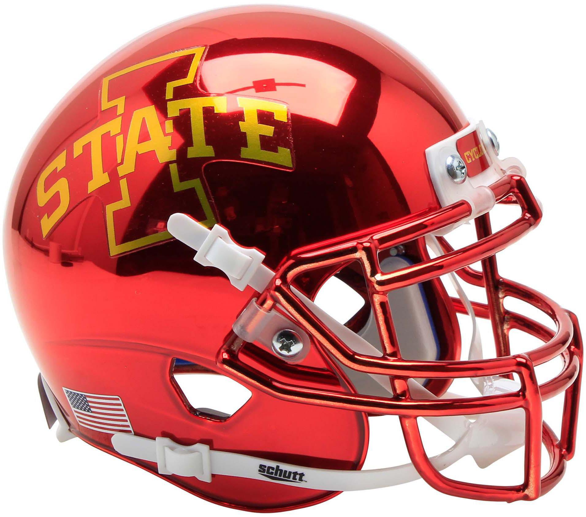 Fanatics Authentic Iowa State Cyclones Schutt Chrome Mini Football Helmet Walmart Com Walmart Com