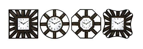 Woodland Imports 4 Piece Wall Clocks by Woodland Imports