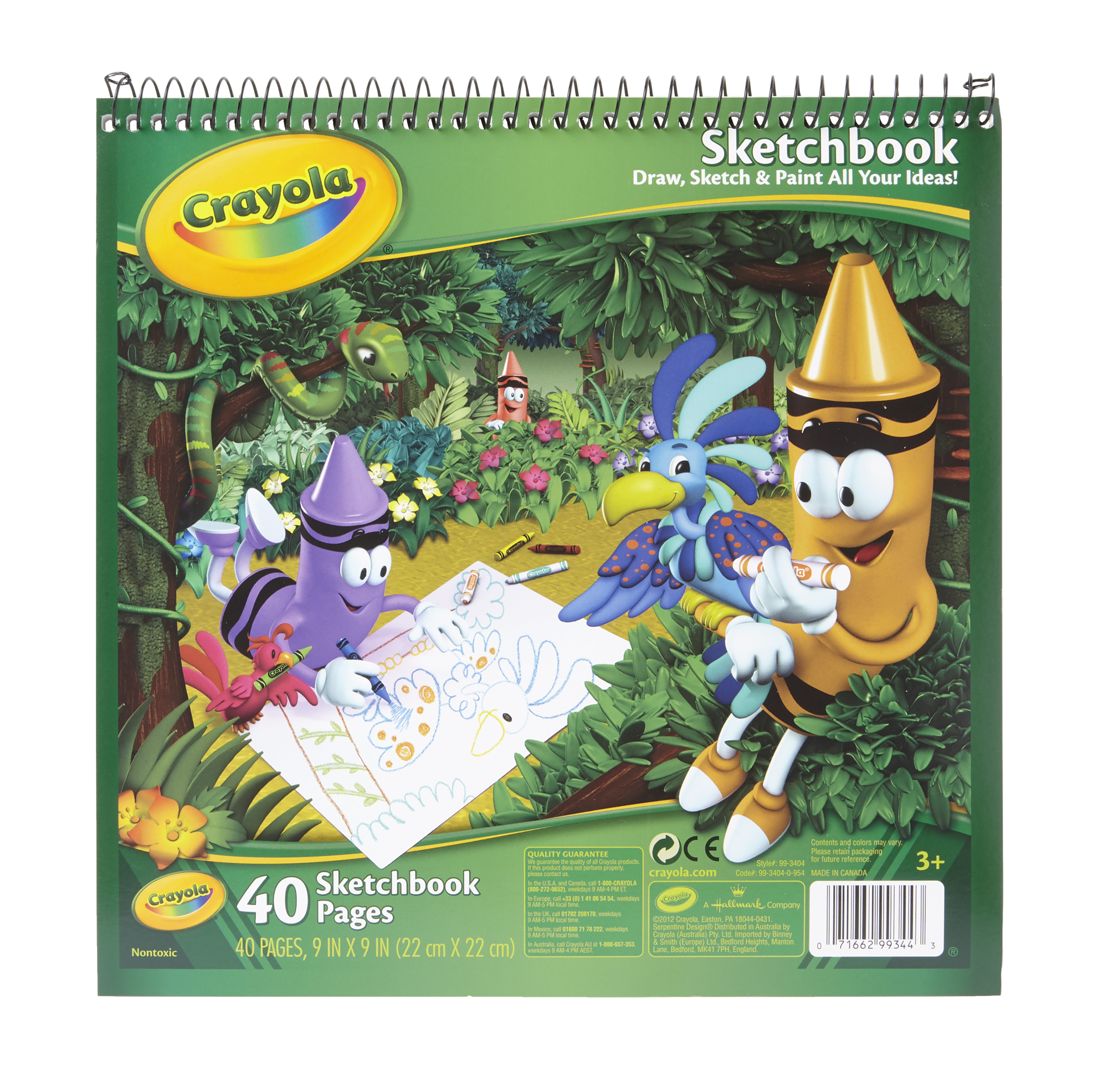 Crayola Heavy Weight Sketchbook, 9 X 9 in, 40 Sheets, White