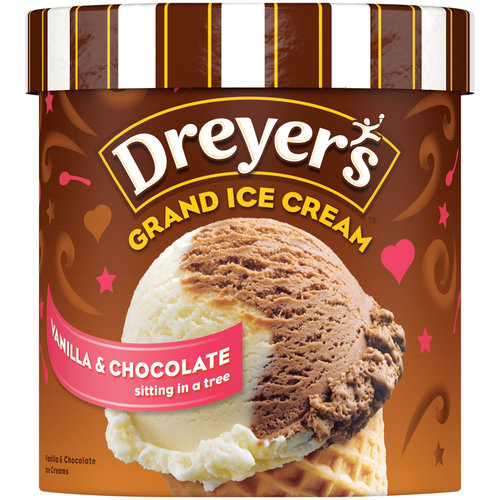 Edy's/Dreyer's Rich & Creamy Grand Vanilla Chocolate Ice Cream, 1.5 qt