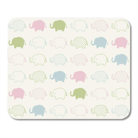 - KDAGR Pink Shower Blue Baby Elephant Cartoon Pattern Green Boy Adorable Mousepad Mouse Pad Mouse Mat 9x10 inch