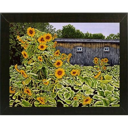 August Grove 'Sunflower Garden' Graphic Art - Halloween Grove Gardens