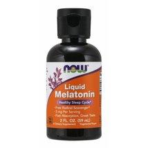 Sleep Aids: NOW Supplements Liquid Melatonin