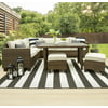 Better Homes & Gardens Brookbury Wicker Sectional Sofa Patio Dining Set, 5 Pieces