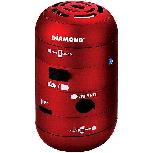 Diamond Mini Rockers Mobile Speakers - Red