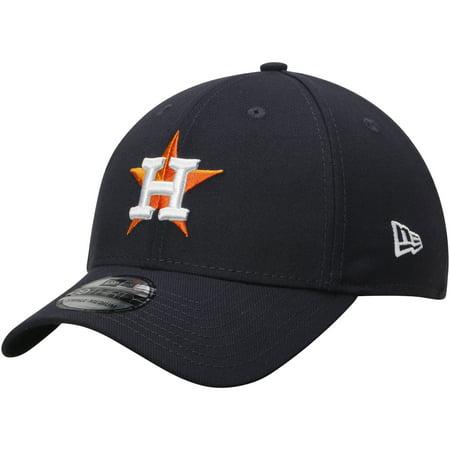 Houston Astros New Era Button Team Classic 39THIRTY Flex Hat - Navy