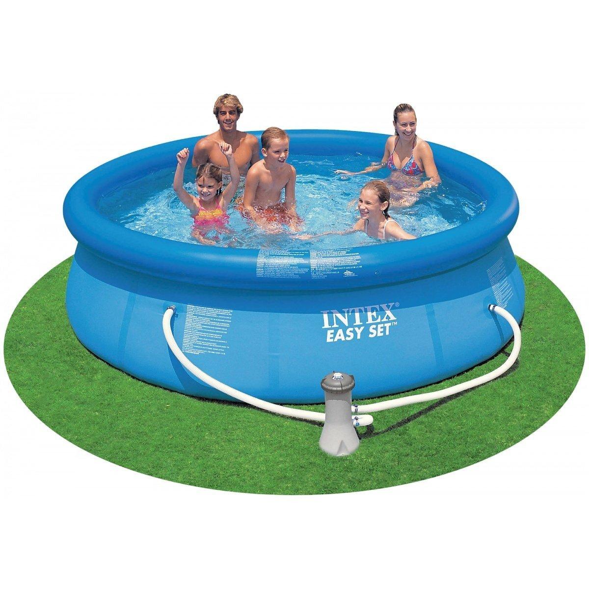 "Intex 10' x 30"" Easy Set Swimming Pool & 330 GPH Filter Pump | 28121EH"