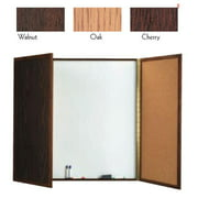 Aarco Products WP-48 Enclosed Melamine Planning Board Walnut Frame