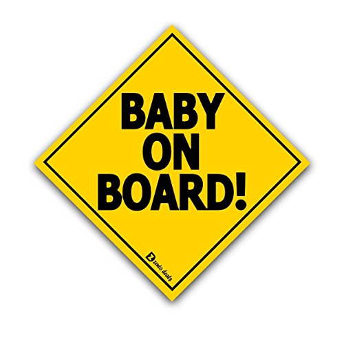 "Zento deals ""Baby On Board"" Vehicle Safety Sticker - 7"" Superior Quality"
