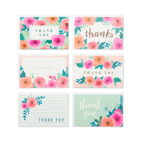 American Greetings Assorted Thank You Greeting Cards, 48ct](Small Thank You Cards)