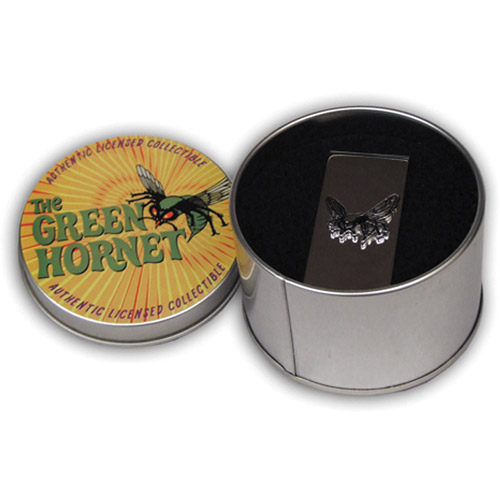 Green Hornet Emblem Money Clip in Collectible Tin