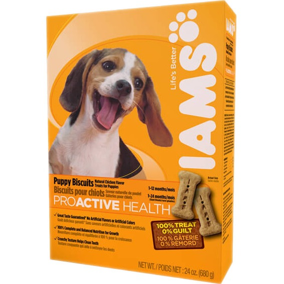 Iams Puppy Biscuits 24Oz