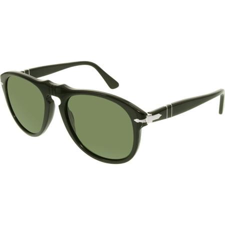 06e86ff951 Persol - Men s Polarized PO0649-95 58-54 Black Aviator Sunglasses -  Walmart.com