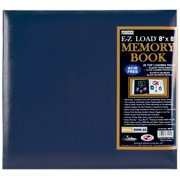 "Leatherette Post Bound Album 8""X8""-Navy"