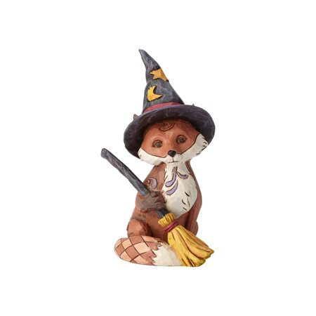 Jim Shore Halloween Mini Fox in Witch's Hat Resin Figurine New with Box - Jim Halpert Halloween