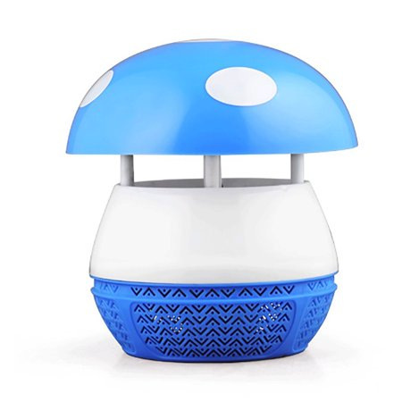 Magic Mushroom Lamp - Mr. Garden LED Electronic Mosquito Killer Lamp, Household Photocatalytic Mosquito Lamp, Mushroom, Without Radiation for Pregnant Women and child, Blue