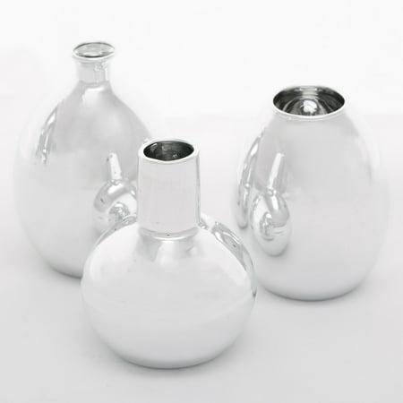 Richland Bud Vase Silver Mod Collection Set of 6