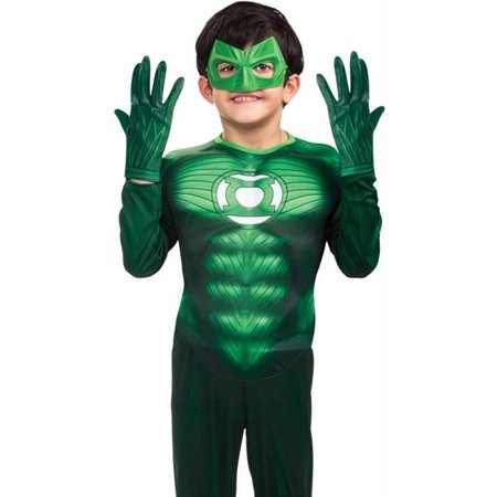 Costumes For All Occasions Ru3618 Gloves Hal Jordan Child - Hal Jordan Costume