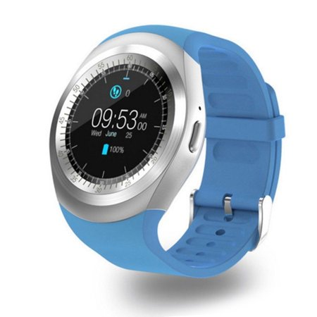 ff00bf8e723 Y4 LCD Smart Watch Bluetooth Phone Micro-SIM Card Touch Screen for IOS  Android - Walmart.com