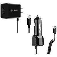 USB Type-C Car Home Charger Pack Extra USB Black Compatible with Samsung Galaxy A20