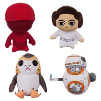 Star Wars The Last Jedi Plush Set: BB-8, Princess Leia, Porg, & Praetorian Guard