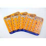 Regal Games Original Travel Bingo 4 Packs - Orange