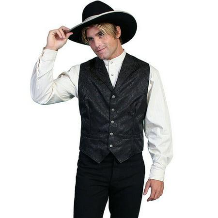 Scully Western Vest Mens Silk Adjustable Back Button Front 535354](Vest Western)