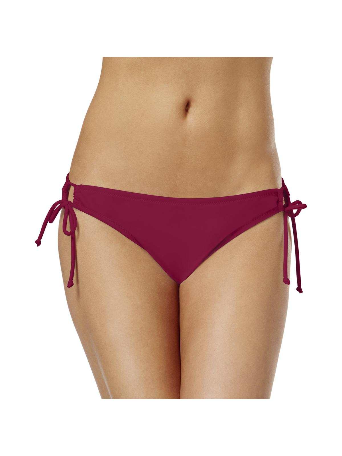 Raisins Womens Solid Side Tie Swim Bottom Separates