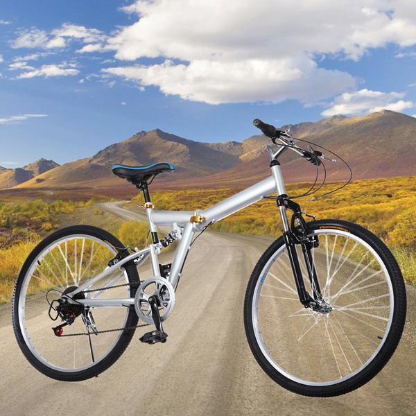 "New 26"" Folding 6 Speed Mountain Bike Sport Cycling V Bra..."