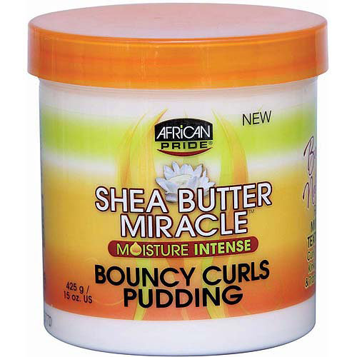African Pride Shea Butter Miracle Bouncy Curls Pudding, 15 oz
