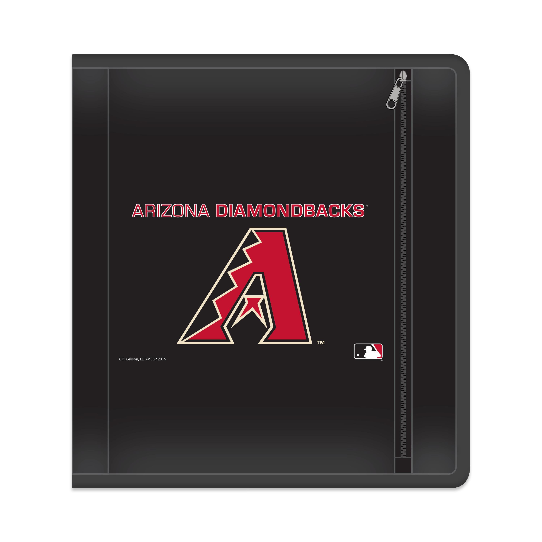 "MLB Arizona Diamondbacks Zippered 3 Ring Binder, 250 Sheet Capacity, 1.625"" Metal Rings"