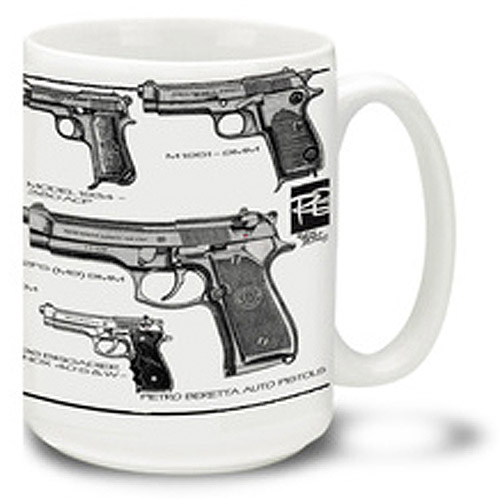 Cuppa 15-Ounce Coffee Mug with Berettas