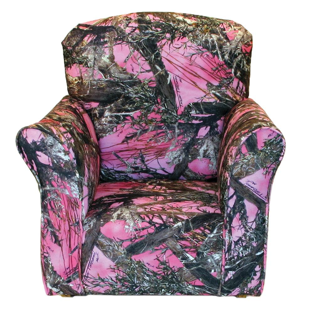 Pink True Timber Print Toddler Rocker - Cotton Rocking Chair
