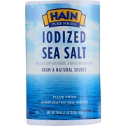 Hain Pure Foods Iodized Sea Salt, 26 oz.