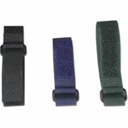 11in HOOK AND LOOP CABLE MANAGEMENT STRAPS -12 PACK BLACK - image 1 of 1