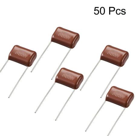 CBB21 Metallized Polypropylene Film Capacitors 400V 0.47uF 50 pcs - image 1 de 3